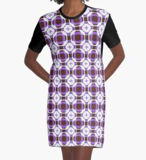 sixties square fashion retro shapes seamless colorful repeat pattern Graphic T-Shirt Dress