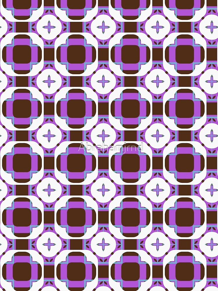 sixties square fashion retro shapes seamless colorful repeat pattern by Abrahamjrnd