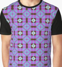 retro shapes decor seamless colorful repeat pattern Graphic T-Shirt