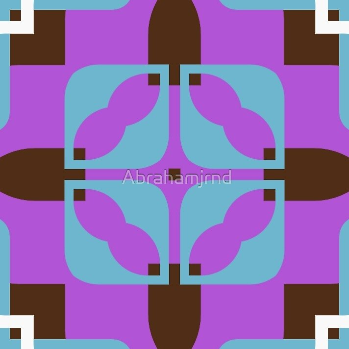 retro shapes decor seamless colorful repeat pattern by Abrahamjrnd
