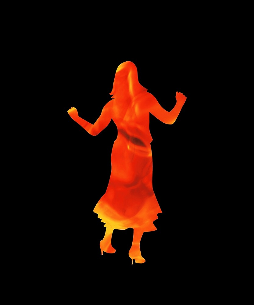 Dancing girl on fire by MisterSmithers