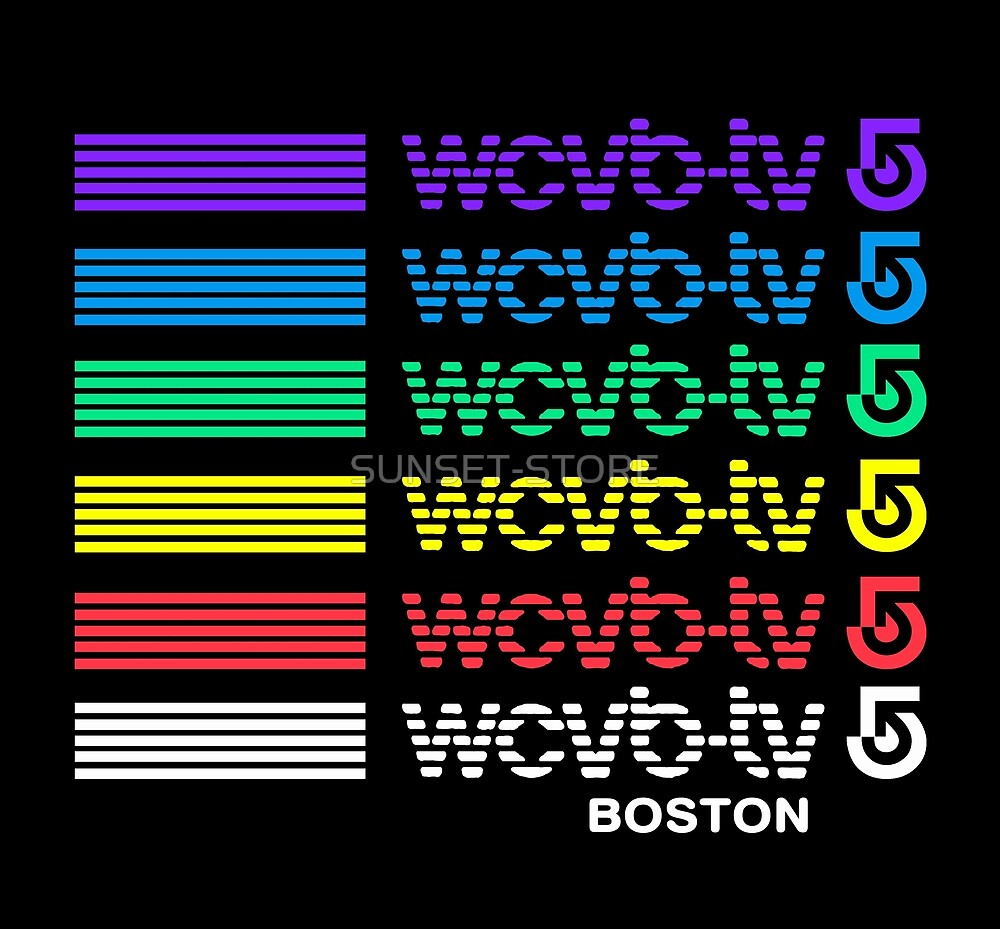 WCVB-TV BOSTON - 80s TV STATION by SUNSET-STORE