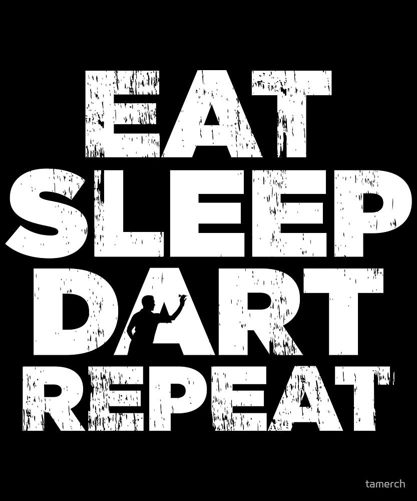 Eat Sleep Dart Repeat Gift Idea by tamerch