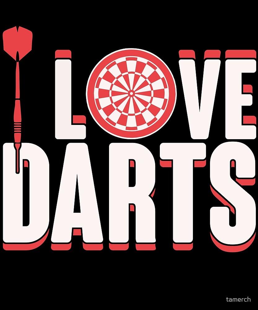 I love darts birthday gift by tamerch