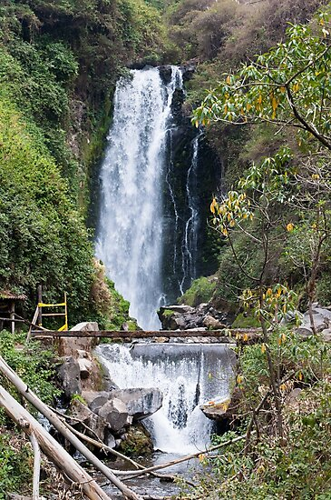 Peguche Waterfall - Otavalo, Ecuador  by GypsySoulImages
