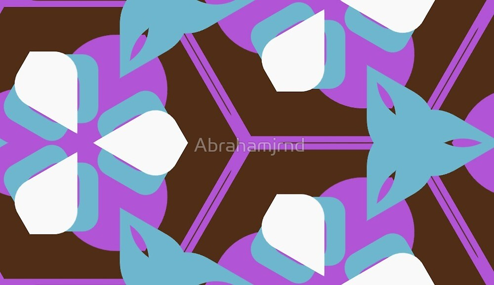 artwork square fashion style seamless colorful repeat pattern by Abrahamjrnd