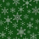 Snowflakes Green by AdTheBad