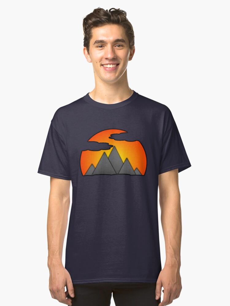 Mountain Sunset Classic T-Shirt Front