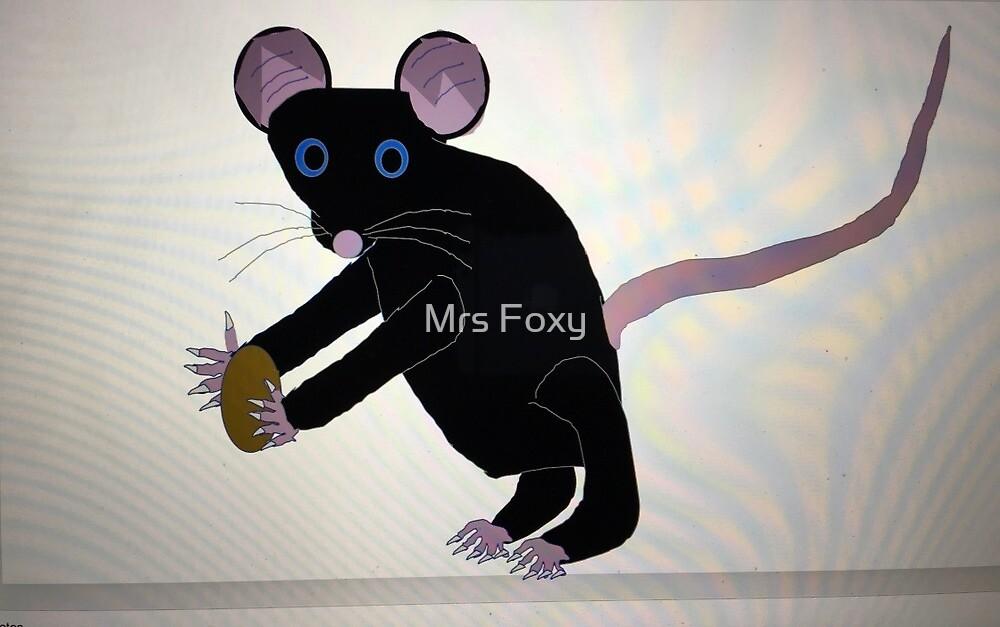 Ratus ratus black rat by Mrs Foxy