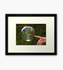 Half Gone Bubble Framed Print