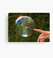 Half Gone Bubble Canvas Print