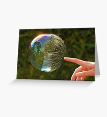 Half Gone Bubble Greeting Card