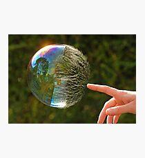 Half Gone Bubble Photographic Print