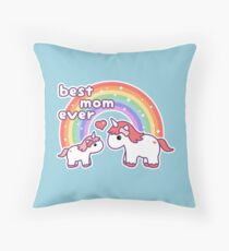 Cute Unicorn Mom Throw Pillow