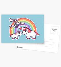 Postales Linda mamá unicornio