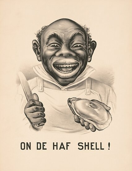 On De Half Shell - Vintage Currier and Ives Print by warishellstore