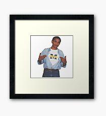 Obama Supreme Tshirt Picture University of Michigan Framed Print