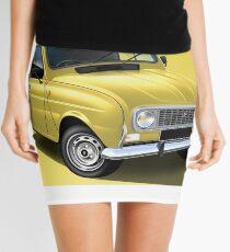 Renault R4 F6 Van Poster Illustration Mini Skirt
