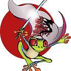 Red-Eyed Samurai Tree Frog by JohnZDesigns