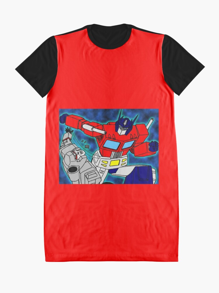 Alternate view of robots  Graphic T-Shirt Dress