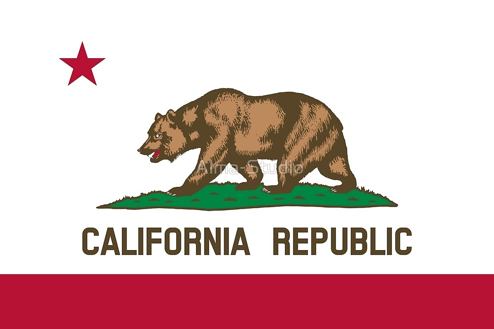 Flag of California by Alma-Studio
