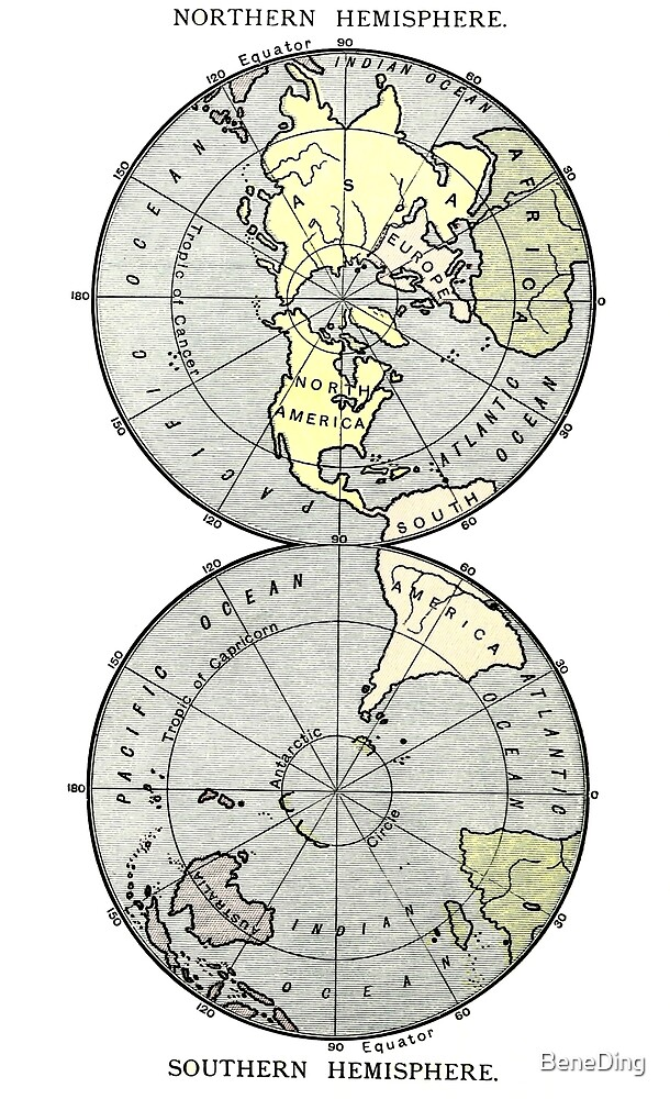 World map -Vintage by BeneDing
