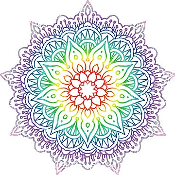 Rainbow Mandala by sweetink