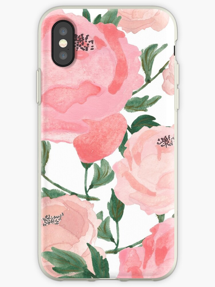 Pink Peonies Watercolor  by MathisDesigns