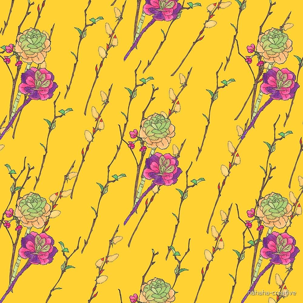 flower stripe yellow by hahaha-creative