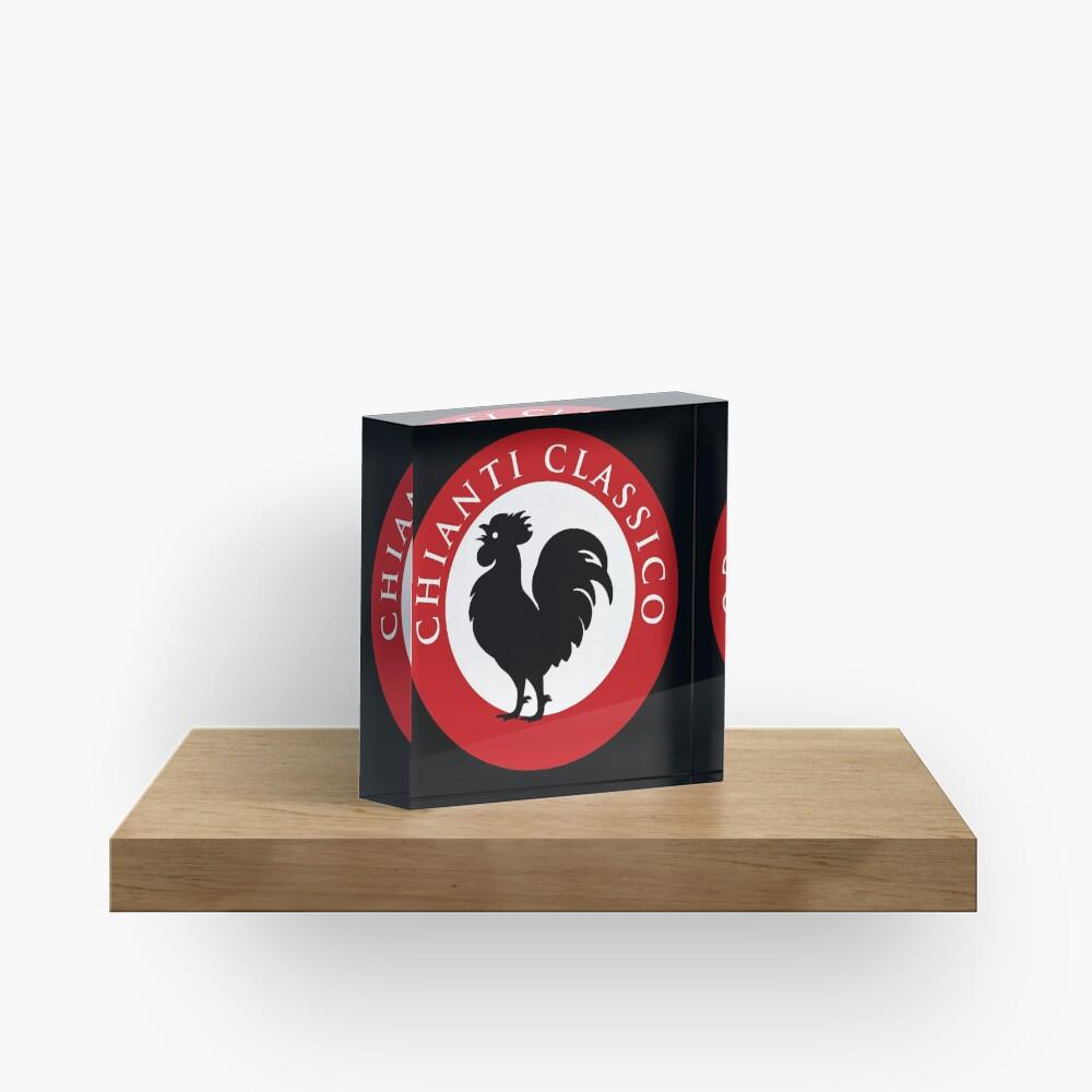 Black Rooster Chianti Classico Acrylic Block