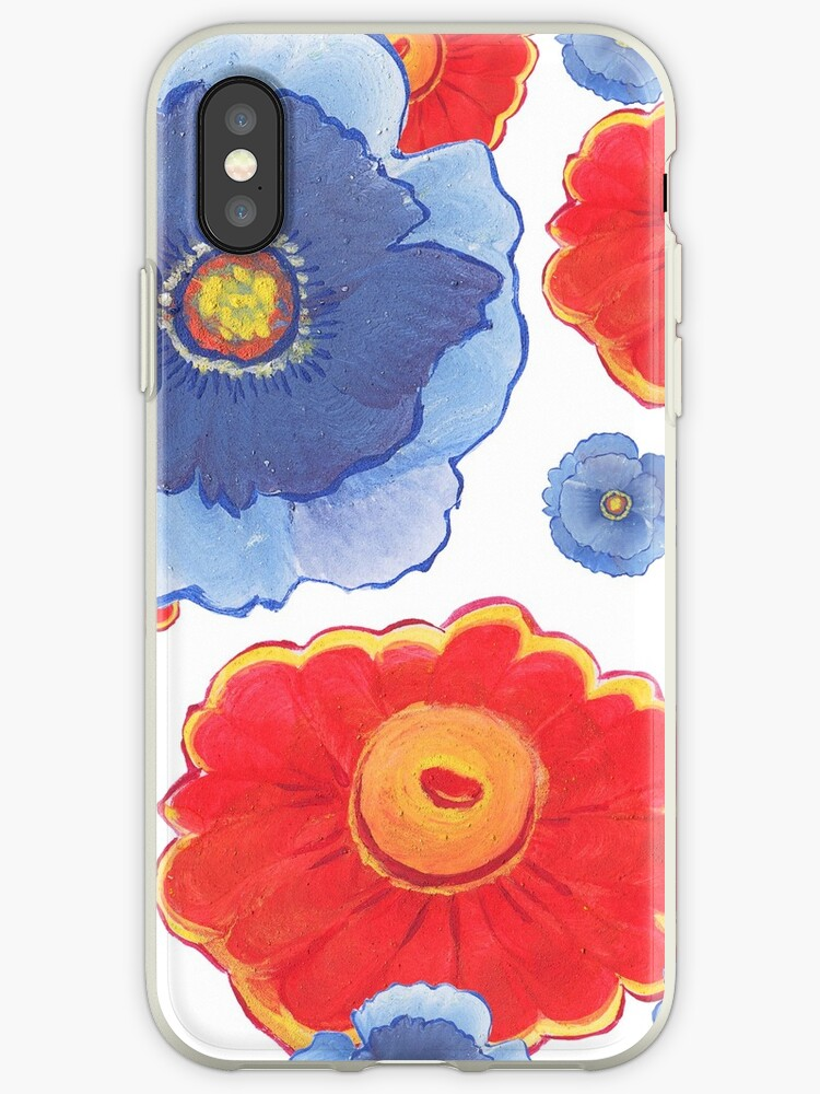 Blue and Red Floral Collection by MathisDesigns