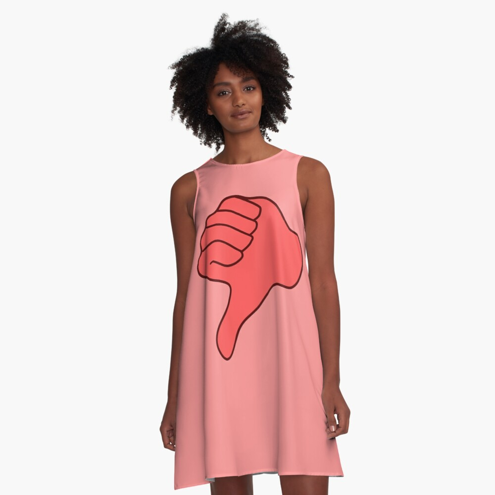 thumbs down A-Line Dress Front