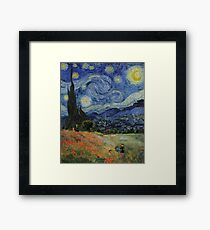 Claude Monet Poppy Fields Vincent Van Gogh Starry Night | Collage 2.0 by Bohemian Bear Framed Print