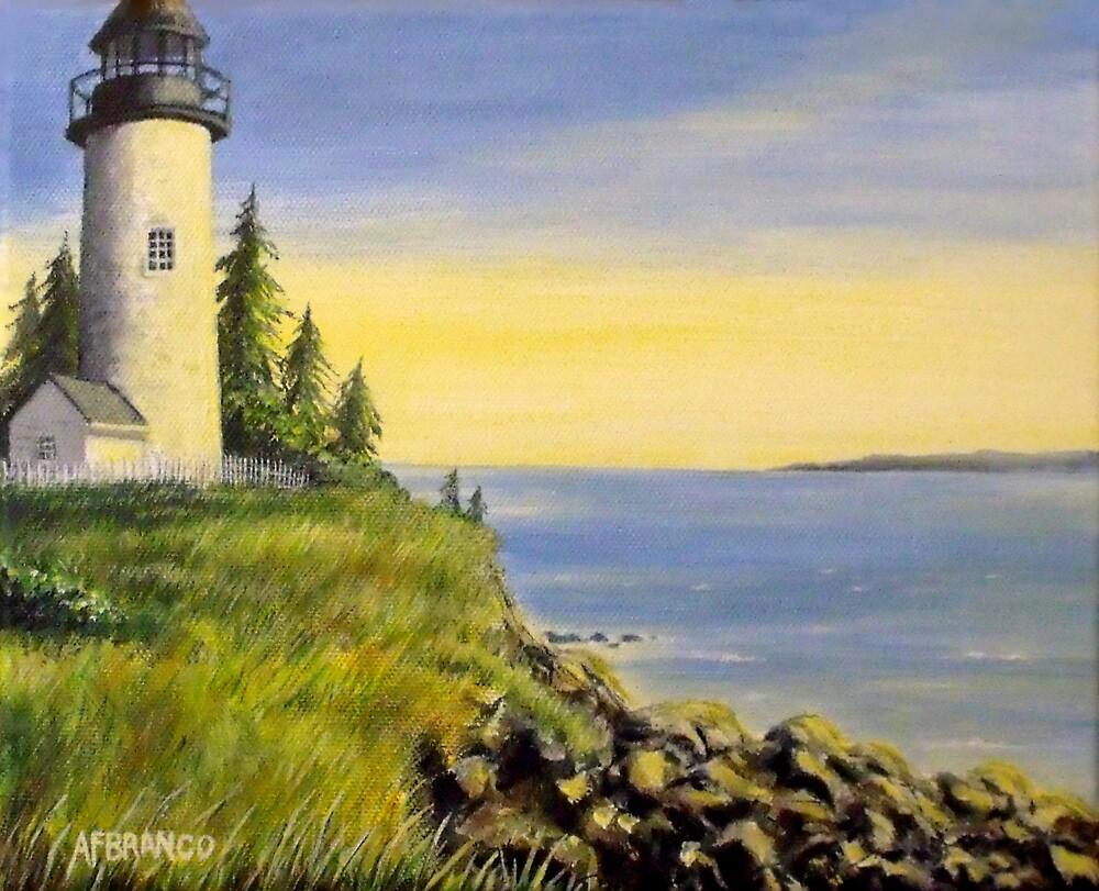 Lighthouse Sunset by A. F. Branco