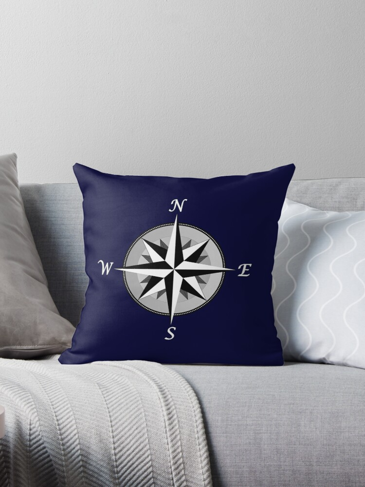 Navy Blue Compass Rose Fancy by rewstudio