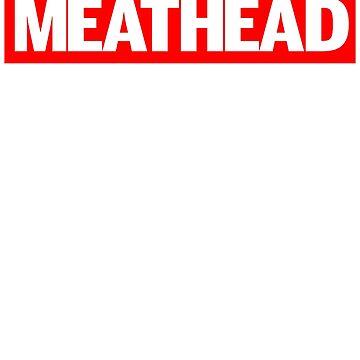 Supreme Parody Meathead Gym Strength Bodybuilding T-Shirt by irondiscipline