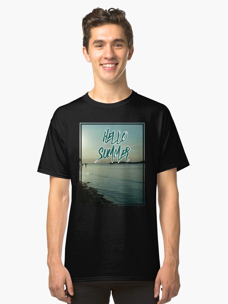 Summer sun beach fun joy gift idea Classic T-Shirt Front