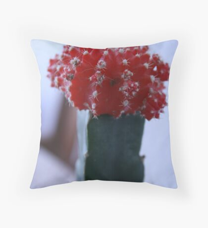 The red cactus Throw Pillow