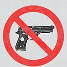 Just Say No to Guns Sticker Pistol Textured White by Oldskool0482