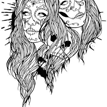 day of the dead girls by sweetink