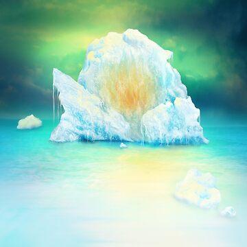 Fire in Iceberg by SanfordStudio