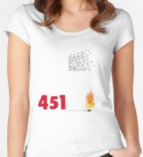 Fahrenheit 451, burning words Women's Fitted Scoop T-Shirt