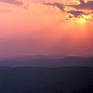 Sunset & Sunbeams - Champlain Valley, Vermont by Stephen Beattie
