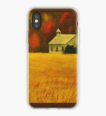 MOUNTAIN AUTUMN, Acrylic Painting, for prints and products iPhone Case