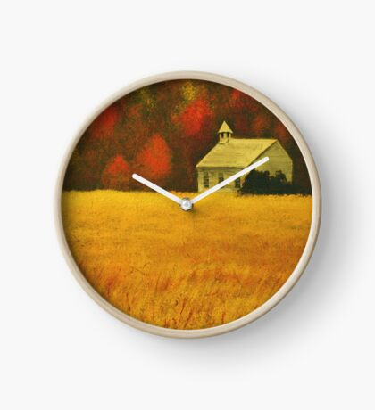 MOUNTAIN AUTUMN, Acrylic Painting, for prints and products Clock