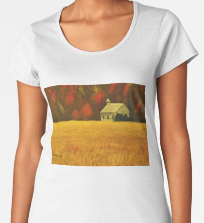 MOUNTAIN AUTUMN, Acrylic Painting, for prints and products Women's Premium T-Shirt
