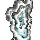 Lake Tahoe Watercolor Geode by colormonger