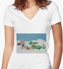 I thought they smelled bad on the outside! Women's Fitted V-Neck T-Shirt