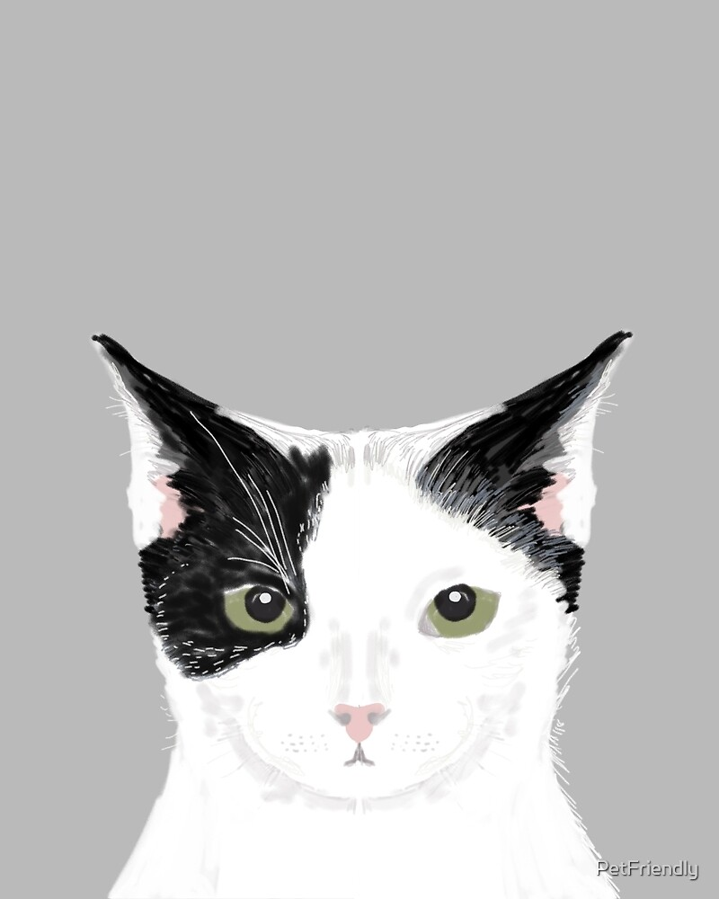 Funny White Cat Meme : Quot manny black and white cute cat gift person lady