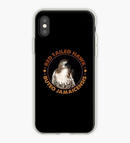 Beautiful Red Tailed Hawk Portrait For Falconers and Birders  iPhone Case